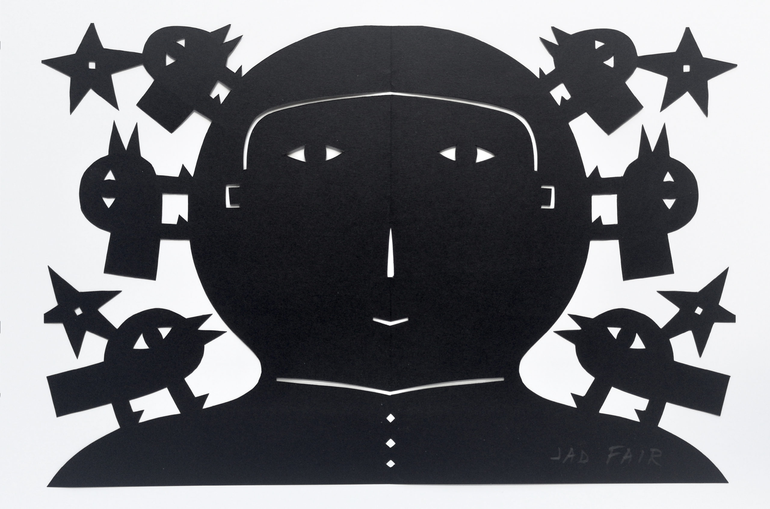 Original papercut by Jad Fair of Half Japanese: Signed Artwork on sale